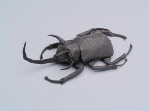 Origami Samurai Helmet Beetle (Riccardo Foschi) - YouTube   225x300