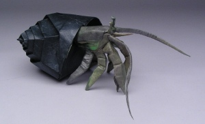 How to Make an adorable 3D origami hermit crab for beginners ... | 182x300